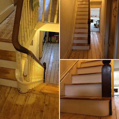 Finished example of Victorian staircase renovation in Newton le Willows, Warrington, North West UK