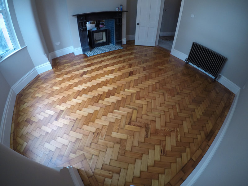 Parquet floors sanded and protected in Garston, South Liverpool