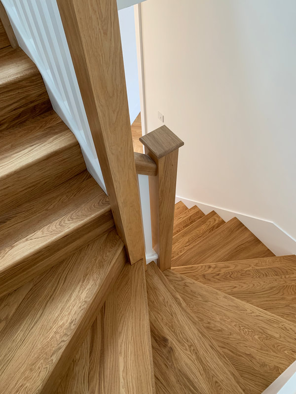 Finished picture Oak Staircase cladding Liverpool